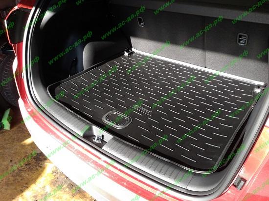 ковер в багажник с двумя корманами для хендай крета