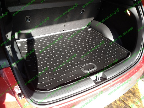 поддон в багажник для хендэ крета с двумя корманами